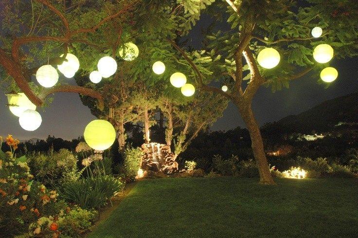 backyard lanterns