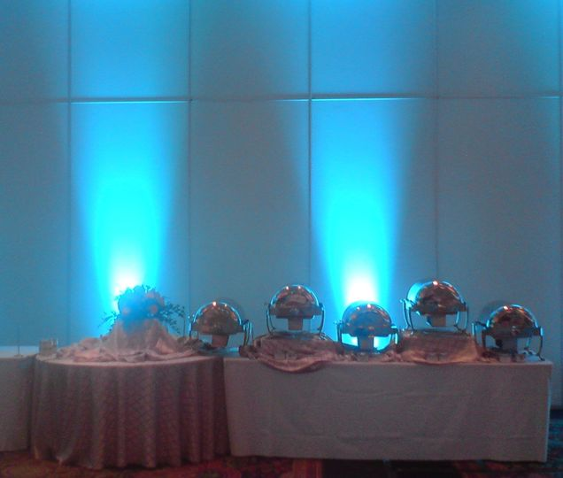 Uplighting  options to create that romantic glow