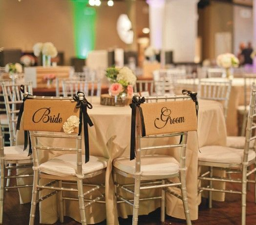 Matte linens, tables and Blue banquet chairs included