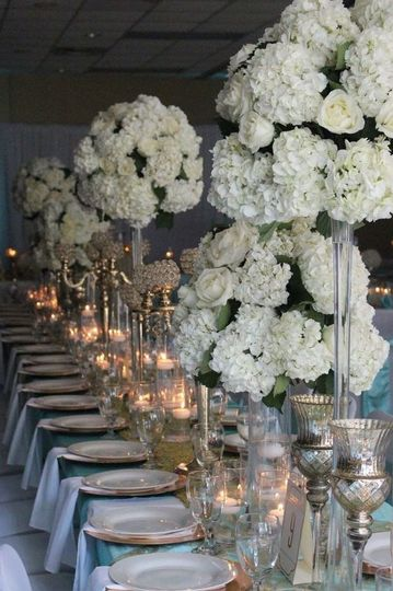 Tiffany blue estate table