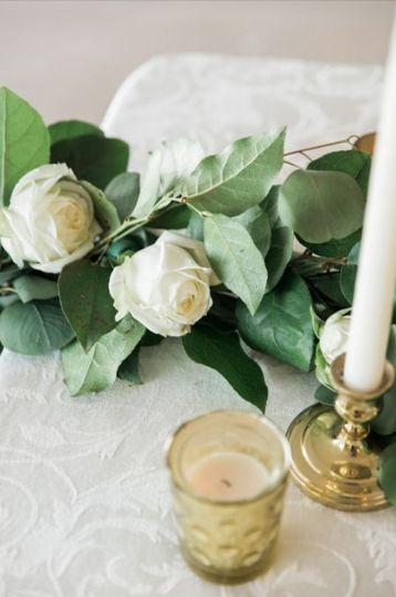 Ivory damask linen