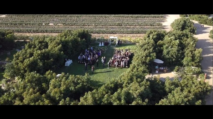 Areal- shot of ceremony site