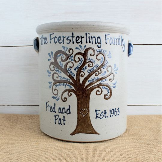 Family tree crock