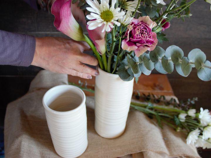Tmx Ridges White Vases With Bev Putting Flowers 51 1061573 159709017954101 Cambridge, WI wedding favor