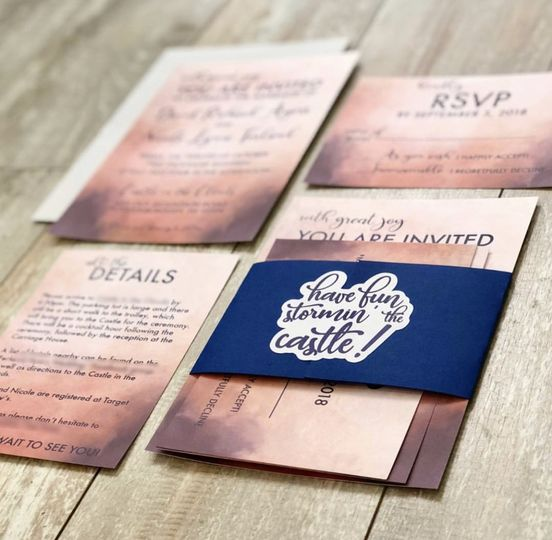 Castle wedding invite