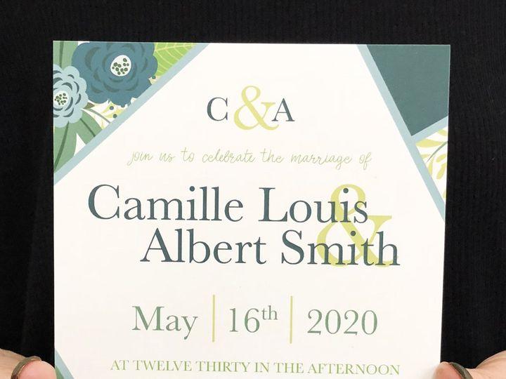 Tmx Geometric Floral 51 1032573 Meredith, New Hampshire wedding invitation