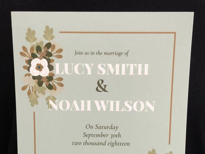 Tmx Mint Floral 51 1032573 Meredith, New Hampshire wedding invitation