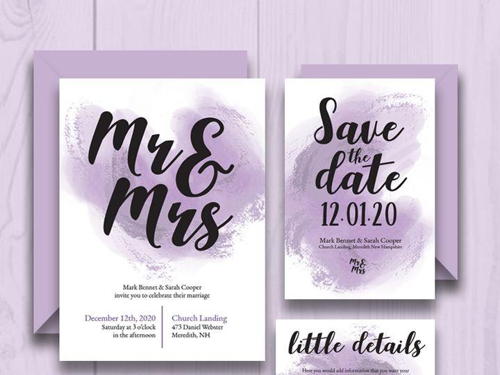 Tmx Watercolor Mockup 51 1032573 Meredith, New Hampshire wedding invitation