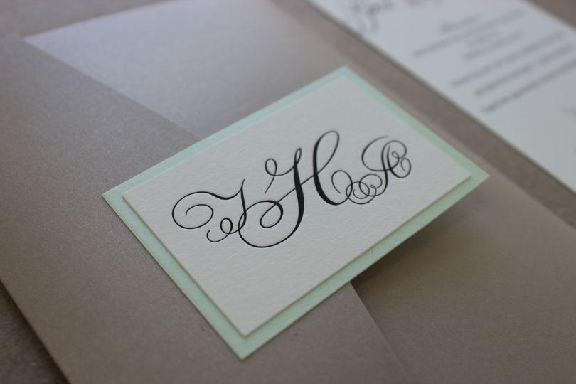 Elegant calligraphy