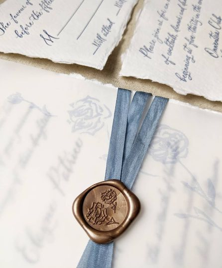 Wax seal and deckled edge