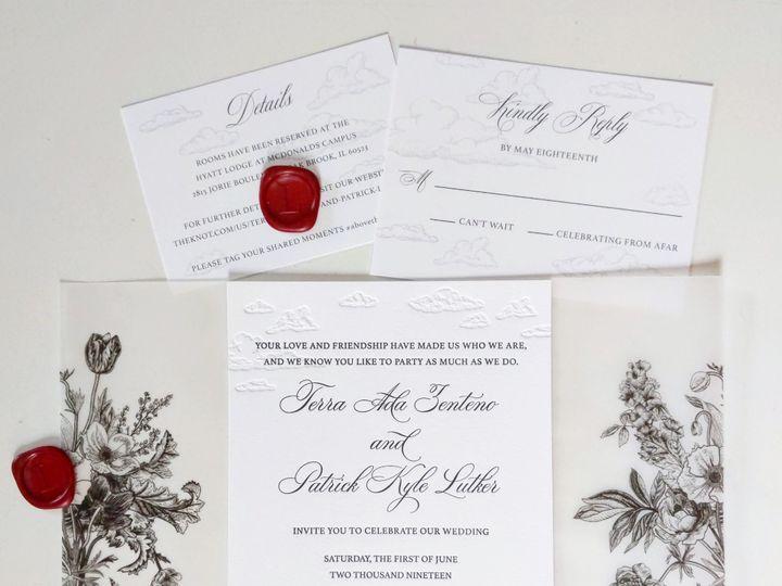 Tmx Letterpressbylydia32 51 363573 158557530948596 Libertyville, Illinois wedding invitation