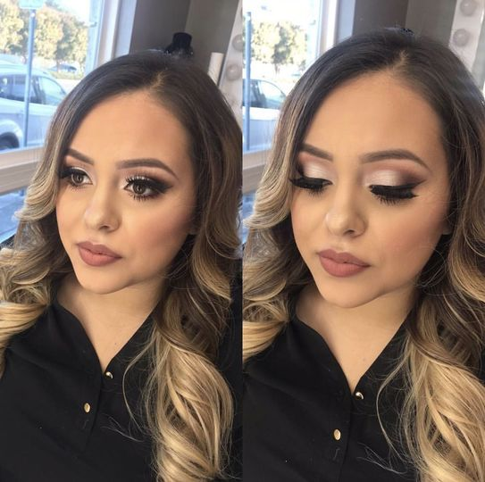 Cat eye look with a deep contour!
