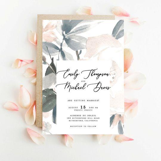 Personalized wedding invites