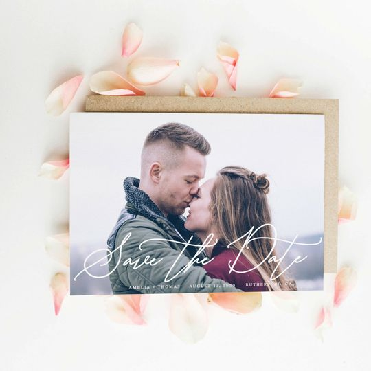 Personalized save-the-dates