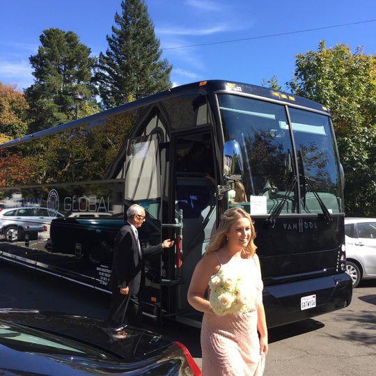 Bridesmaids arrival