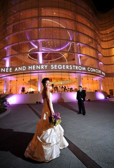 Segerstrom Hall. The first wedding at the music center.