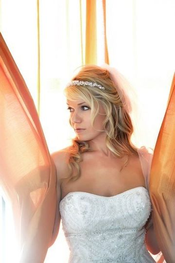 Kelly in her Bridal portraits. I also color and cut Kelly's hair.