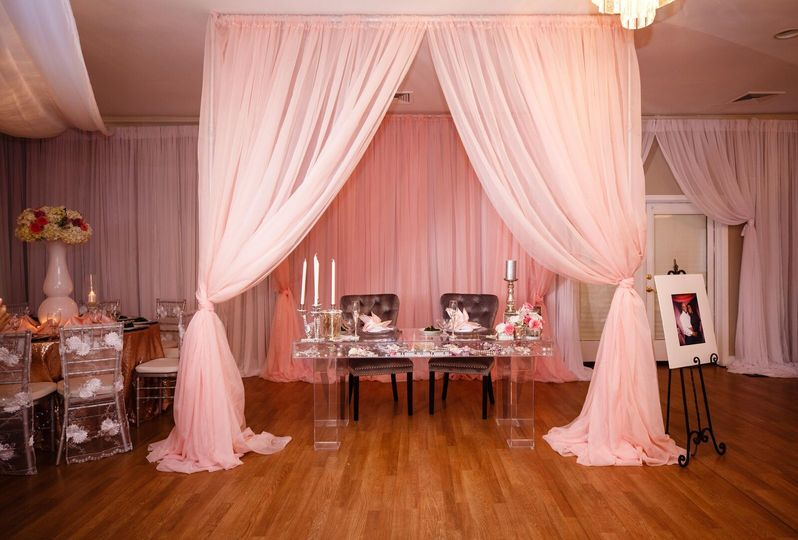 Pink themed venue