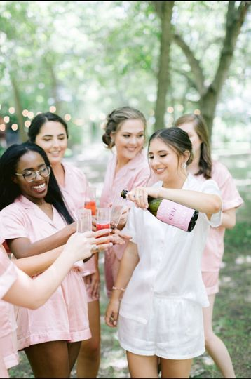 Bridal party celebrations