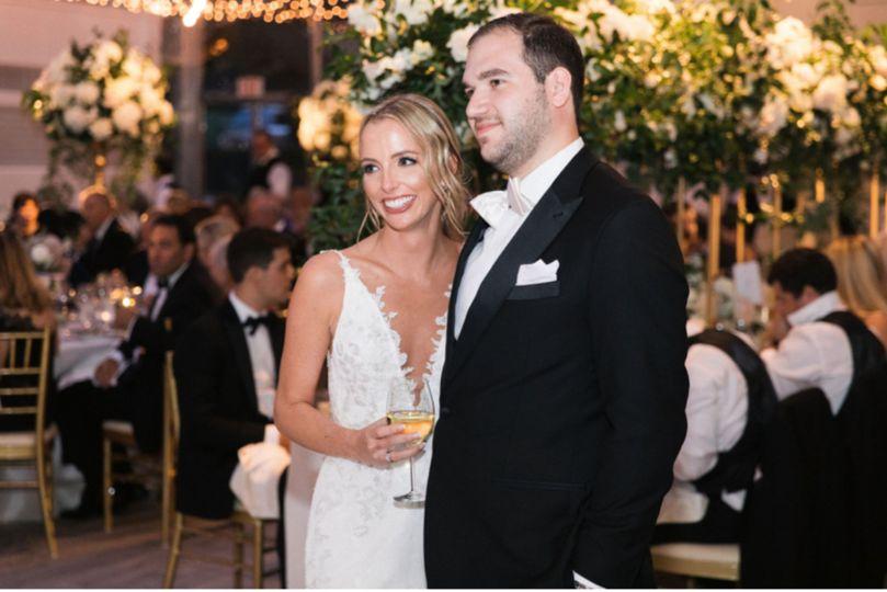 Bridal makeup at reception