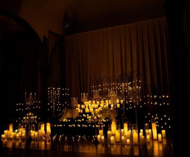 Candle lit altar