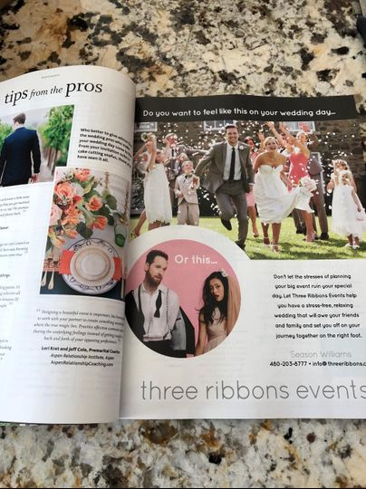 Our ad in The Knot Magazine