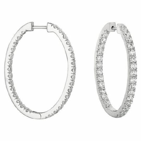 Hoop Gold & Diamond Earrings
