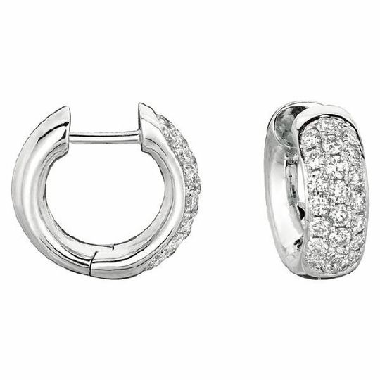 Huggie Gold & Diamond Earrings
