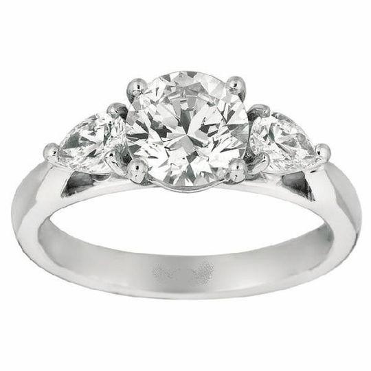 Prong Set 3-Stone Engagement Ring