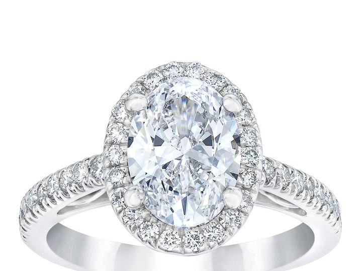 Tmx 0864 Oval Diamond Halo Ring Standing 51 801673 159776309456889 South Orange, NJ wedding jewelry