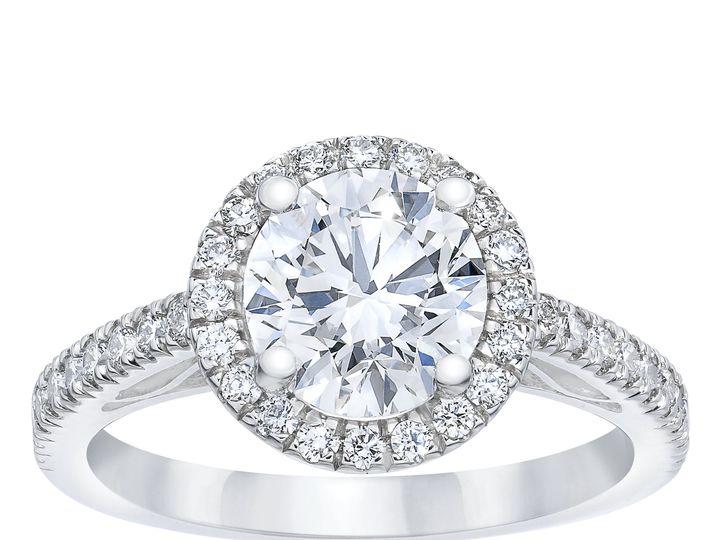 Tmx 1186185 Round Diamond Halo Ring Standing 51 801673 159776307749921 South Orange, NJ wedding jewelry