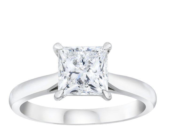 Tmx 2151615452 Princess Solitaire Diamond Ring 51 801673 159776341210687 South Orange, NJ wedding jewelry