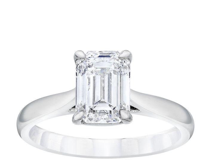 Tmx 50332981 Emerald Solitaire Ring Standing 51 801673 159776341232861 South Orange, NJ wedding jewelry