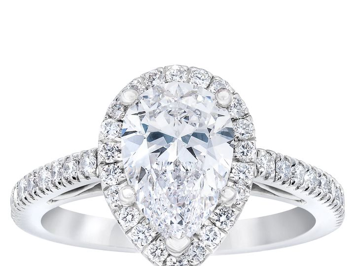 Tmx 55360221 Pear Cut Diamond Halo Ring Standing 51 801673 159776315780842 South Orange, NJ wedding jewelry