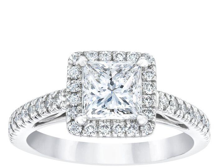 Tmx 6053 Princess Diamond Halo Ring Standing 51 801673 159776311552256 South Orange, NJ wedding jewelry