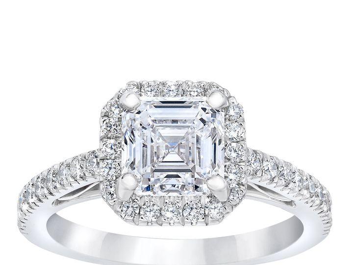 Tmx 850317852 Ascher Cut Diamond Halo Ring Standing 51 801673 159776320231405 South Orange, NJ wedding jewelry