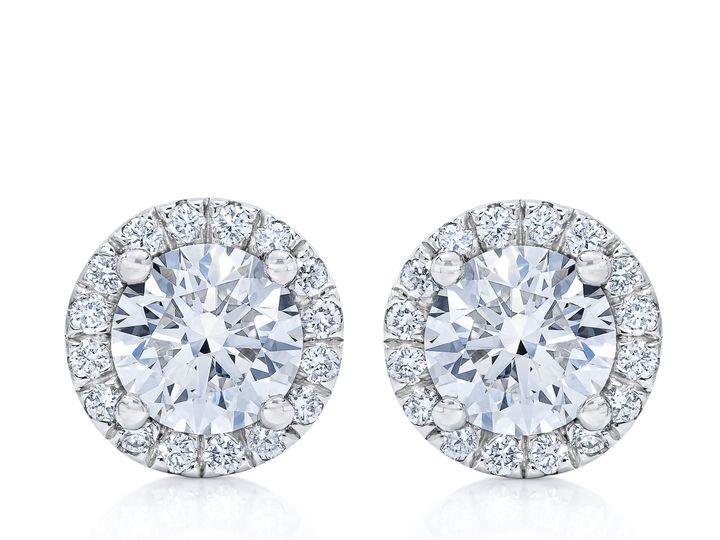 Tmx Br850663647 Br55672873 Diamond Halo Earrings Front 1 51 801673 159776324639576 South Orange, NJ wedding jewelry