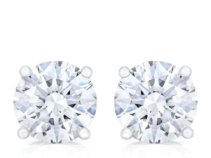 Tmx Br850669038 Br350294018 Round Diamond Stud Earring Front 51 801673 159776304446410 South Orange, NJ wedding jewelry
