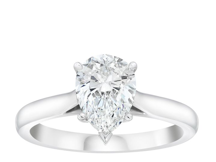 Tmx Pear Solitaire Ring Standing 51 801673 159776341322470 South Orange, NJ wedding jewelry