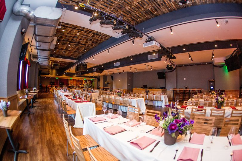 Modern wedding reception setup
