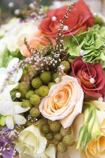Detail of floral arrangement