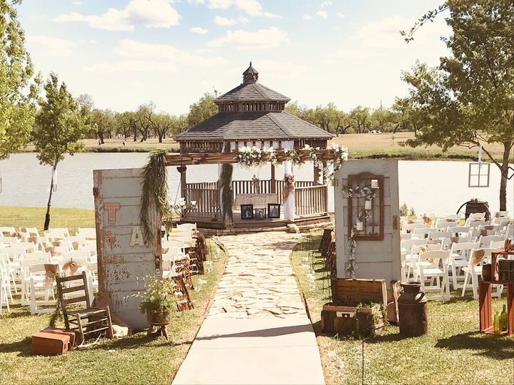 Wedding gazebo by the lake