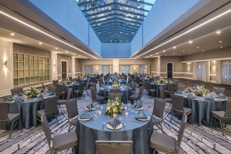 Seated Reception - Atrium Ballroom, Wedding Venue