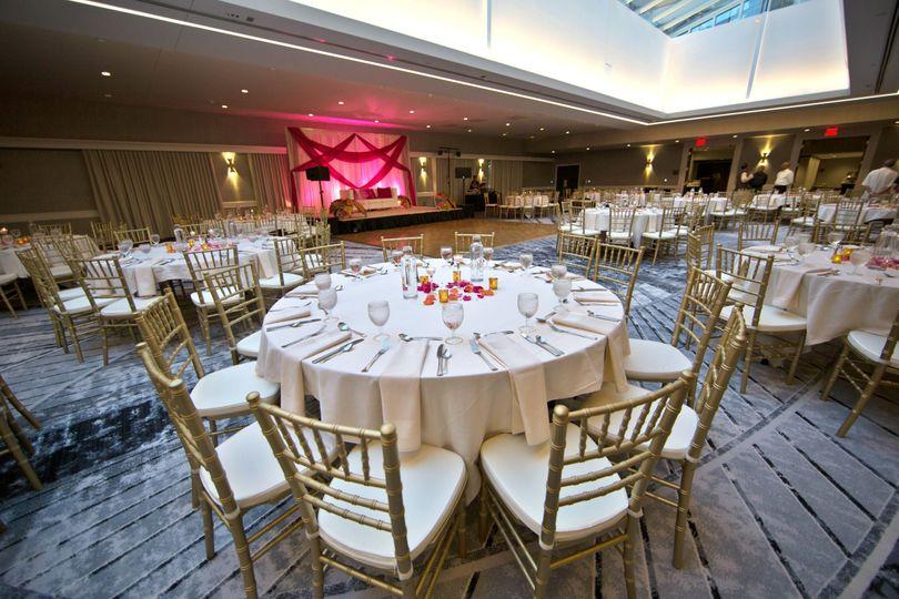 Atrium Ballroom Reception facing West - Wedding Venue