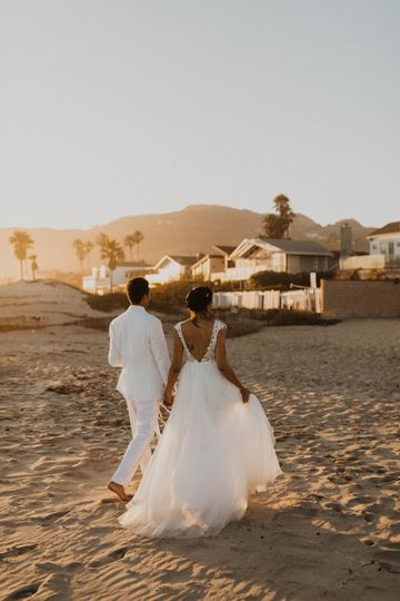 Malibu intimate wedding