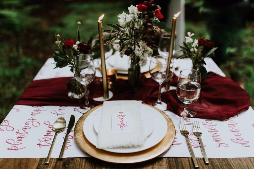 Styled Sweetheart Table