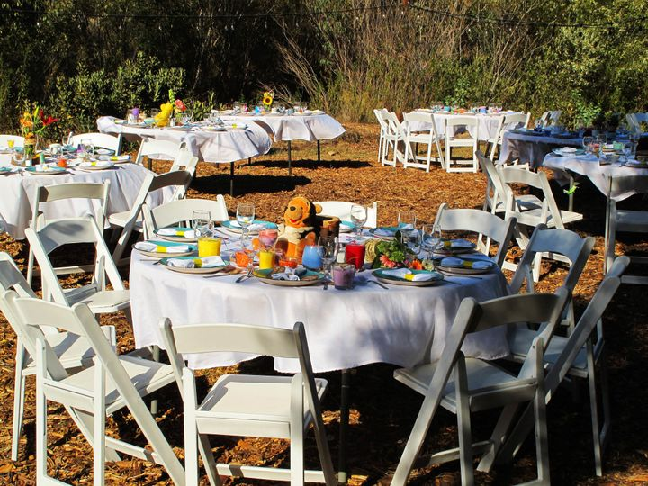 beautiful tables and chairs (included in the cost of the venue)