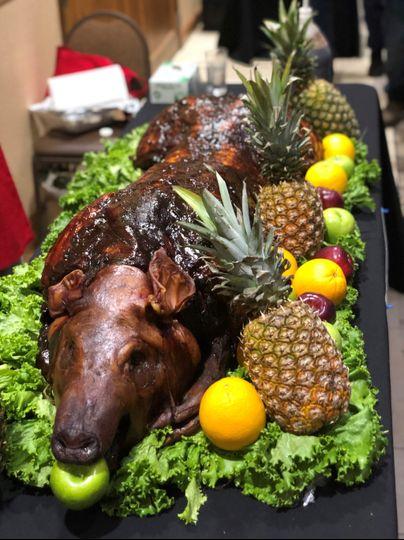 Whole hog ready to eat