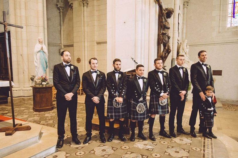 Scottish wedding in France