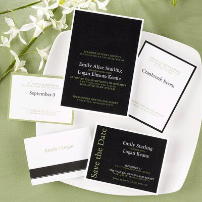 This striking invitation is the perfect way to inform guests of your special day.